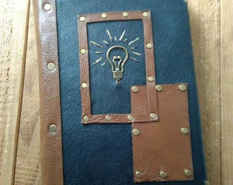 Leather notebook Idea. Handmade