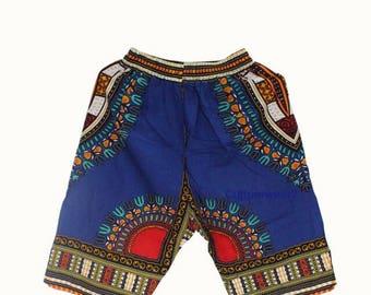 Dashiki Shorts Blue
