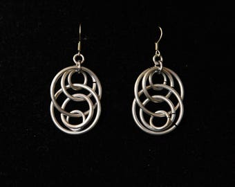 Illusion loop chainmaille earrings