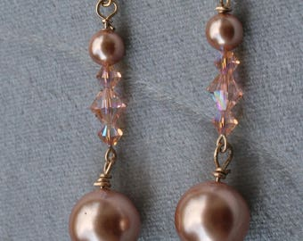 Earrings with pearls and Swarovski crystals by Loredana di Cecco