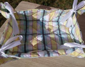 Basket bread, basket fabric, fabric basket is handmade, cotton fruits basket, basket cotton