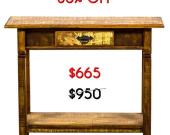 Handmade Reclaimed Wood Console Table Moving Sale 30% Off