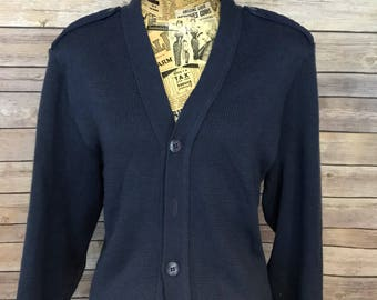 Vintage Military Equipment Cardigan Sweater (40R)