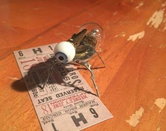 Steampunk Clockwork Tiny Friend with Glass Doll Eye, Watch Parts