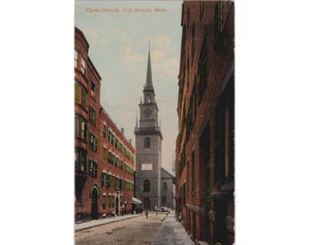 MASSACHUSETTS: Christ Church (Old North Church), Boston - Vintage Postcard, 1910