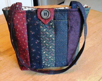 Striped Quilted Purse