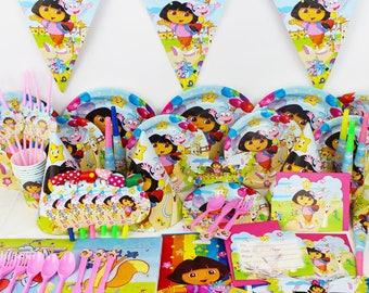 84 Piece Dora the explorer Party Kit