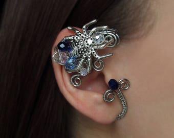 Spider Ear Cuff Wire Jewelry No Piercing Ear Cuffs Wire Jewelry Wire wrapped ear cuffs Jewelry