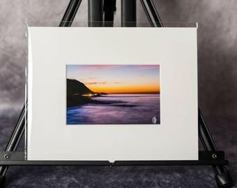 Matted Print: Malibu Sunrise