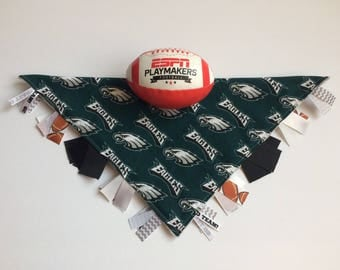 Philadelphia Eagles Baby Gift, Philadelphia Eagles Baby, Philadelphia Eagles Tag Blanket, Eagles Lovey Blanket