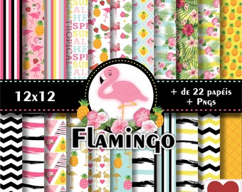 Flamingo Digital Paper Flamingo Kit Digital