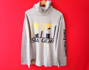 vintage helly hansen hooded sweatshirt medium mens size