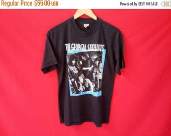 vintage The Georgia satellites rock band music concert  80's t shirt