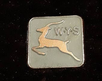 Vintage 1970s W.Y.S Wildlife Youth Service Enamel Pin Badge