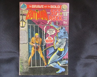 The Brave and The Bold #96 (Batman & Sgt. Rock, Last 15 cent Issue) D.C. Comics 1971