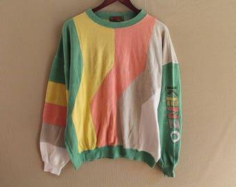 vintage 90s kenzo sweatshirt kenzo golf kenzo paris big logo kenzo spellout size 4