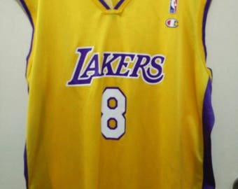 Vintage Kobe Bryant Lakers by Champion Basketball Jersey #8