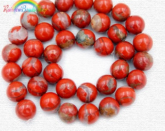 Natural Red Jasper Beads, Red Beads, Red Gemstone Beads, Natural Jasper Beads, Round Natural Beads, Jasper Beads, 4mm 6mm 8mm 10mm