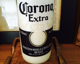 My Corona! Apple Soy Wax Recycled Beer Bottle Candle