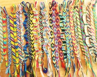 Flat Knotted Friendship Bracelets - Various Styles