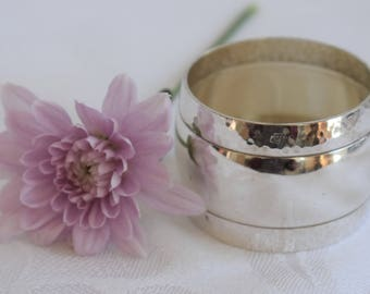 Vintage French silver plated serviette or napkin ring