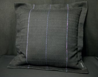 Pillow with bar black with piping 50 x 50