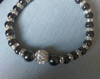 Hematite crystal healing gemstone bracelet