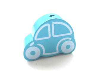 Great car - Turquoise wooden bead
