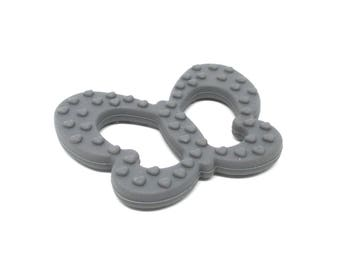 Butterfly silicone teething special dark grey