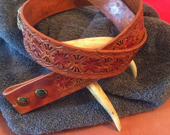 Belt - Hand Tooled Leather