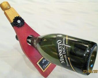 Champagne Bottle Shaped Balancing Wine Bottle Holder