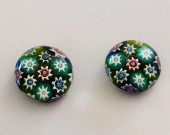 Millefiori Glass Earrings.