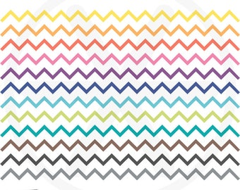 Borders Clipart. Colorful Chevron Digital Borders Clip Art. Rainbow Ribbon Images. Commercial Use. Instant Download. Digital Borders Set