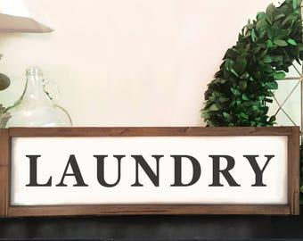 Rustic Laundry Room Sign | Wood Framed Laundry Sign | Laundry Room Decor | Laundry Room Wood Sign | Wooden Laundry Sign | Farmhouse Decor