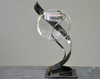 (REF BF 033) wrought iron candle holder