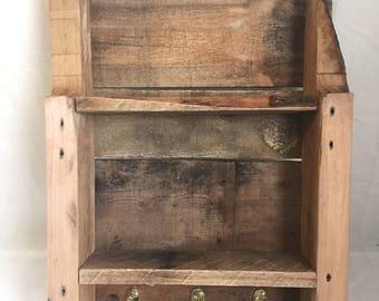 Rustic pallet shelves and key holder