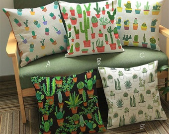 Cactus Decorative Cushion Cover Throw Pillow Case for Home Sofa Couch