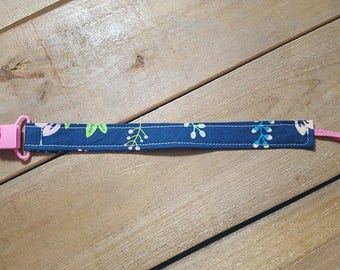 Floral Paci Clip - Pacifier holder