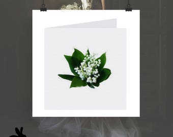 """Watercolour Cards - """"Modern Love"""" Lily Of The Valley Bouquet"""