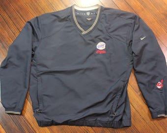 Cleveland Indians Miller Lite Nike Golf Pullover Navy Blue Windbreaker Jacket Large