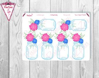 Floral Mason Jar Checklists