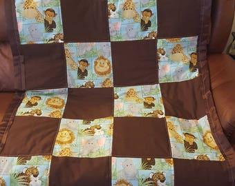 Jungle themed toddler blanket