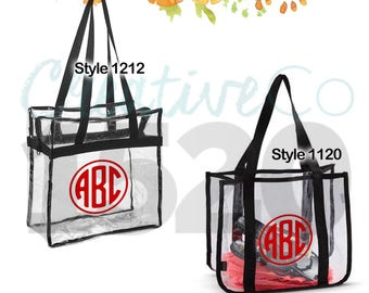 Custom Clear Tote Bag | Stadium Approved Tote Bag | Custom Stadium Bag | Clear Stadium Bag | Football Stadium Bag | Gift Idea