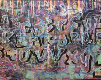 CUSTOM NAME ART on canvas