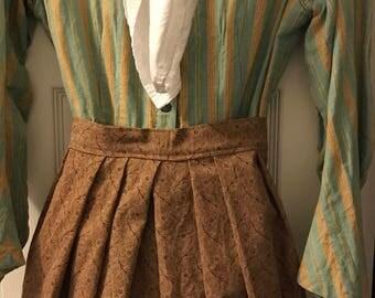 Civil War half apron brown cotton