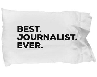 Journalist Pillow Case, Gifts For Journalist, Best Journalist Ever, Journalist Pillowcase, Christmas Present, Journalist Gift