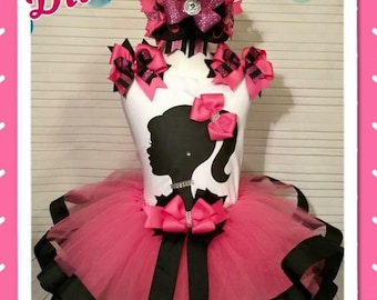 Barbie tutu, Barbie birthday, Barbie party, Barbie