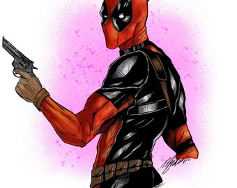 Deadpool digital illustration