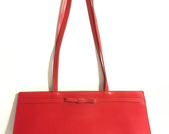 Stunning Furla Red Leather Purse Made in Italy