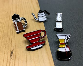 Coffee Addict Enamel Pin